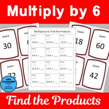 Multiply by 6 Scavenger Hunts