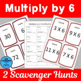 Multiply by 6 Scavenger Hunts