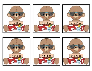 Multiply by 6's - Summer Bear Learns to multiply by 6's!