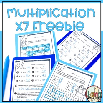 Multiply by 7 Free Multiplication Worksheets
