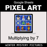 Multiply by 7 - Google Sheets Pixel Art - Winter