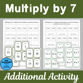 Multiply by 7 Scavenger Hunts and Matching Center