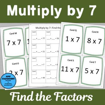 Multiply by 7 Scavenger Hunts