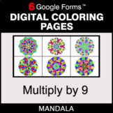 Multiply by 9 - Digital Mandala Coloring Pages | Google Forms
