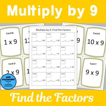 Multiply by 9 Scavenger Hunts