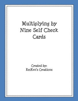 Multiply by 9 Self Check Cards