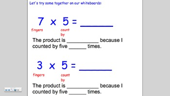 Multiply by Five using Skip Counting