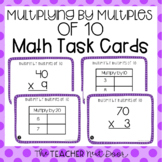 3rd Grade Multiply by Multiples of 10 Task Cards