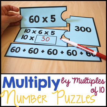 Word Problems Multiplying Multiples Of 10 Teaching Resources ...