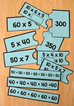 Multiply by Multiples of 10 Number Puzzles