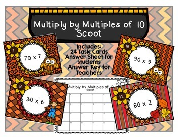 Multiply by Multiples of 10 Scoot
