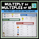 Multiply by Multiples of 10 Shopping Game