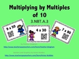 Multiply by Multiples of 10 Task Cards