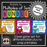 Multiply by Multiples of Ten Games and No Prep Printables