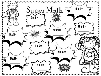 Multiply by Nine! 9 Times Tables. Multiplication. Worksheets