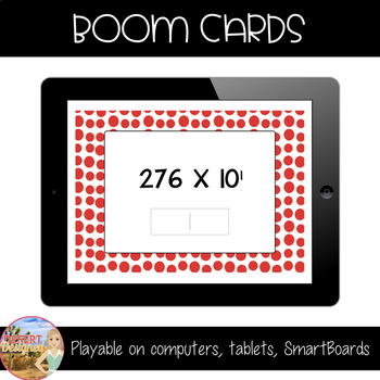 Multiply by Powers of Ten - Boom Cards