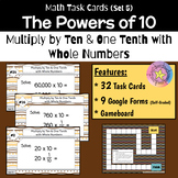Place Value: Powers of 10 - Multiply by Ten & One Tenth (with Google Forms)