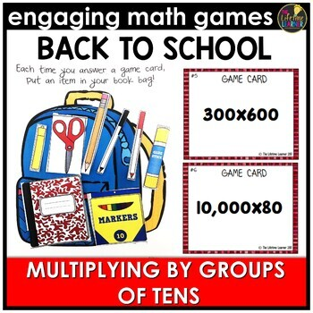 Multiply by Tens Back to School Game