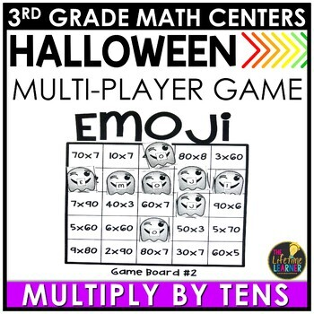 Multiply by Tens Halloween Game