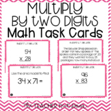Multiply by Two Digits Task Cards | Multiply by Two Digits Center Game