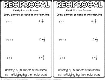 Multiply by a Reciprocal TEKS 6.3A