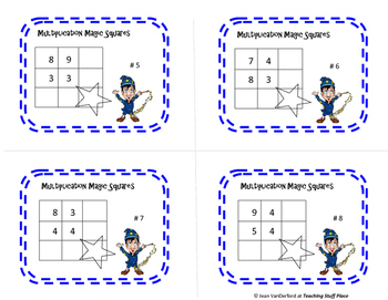 MULTIPLICATION MAGIC | TASK CARDS | Early Finishers | Gr 3-4-5 MATH Unit