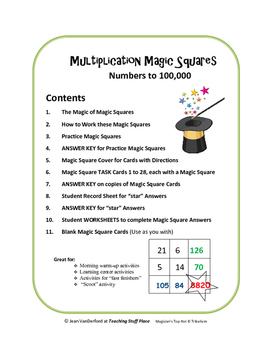 CALCULATOR MATH MAGIC   Multi-step Cards   Self-Checking   Gr 4,5,6 MULTIPLY