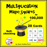 CALCULATOR MATH MAGIC | Multi-step Cards | Self-Checking | Gr 4,5,6 MULTIPLY