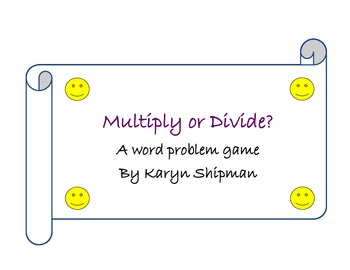 Multiply or Divide? A Number Model Board Game