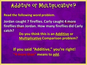 Multiplicative Comparison Word Problems - CCSS 4.OA.A.2 (PowerPoint Only)