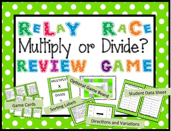 Multiply or Divide Word Problem Relay Race Review Game
