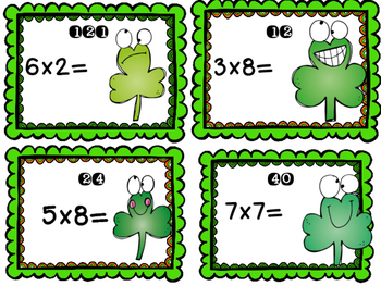 Multiply the Room: St. Patrick's Day Task Cards