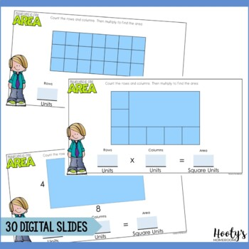 Multiply to Find Area of Rectangles Paperless Practice