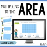 Multiply to Find Area of Rectangles Google Slides