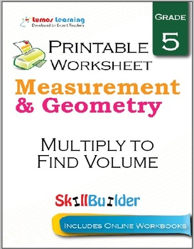 Multiply to Find Volume Printable Worksheet, Grade 5