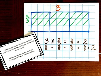 Multiply whole numbers by Fractions Word Problems