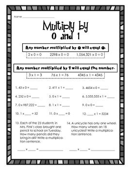 Multiply with 0 and 1