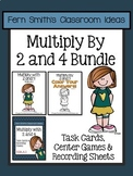 3rd Grade Go Math 4.1 Multiply 2 & 4 Task Cards Center Games Color By Number