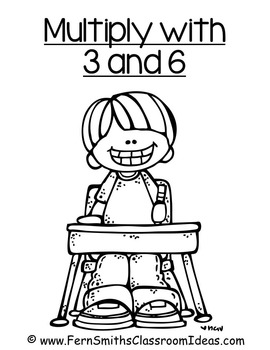 Multiplication with 3 and 6 Center and Printables with No Common Core