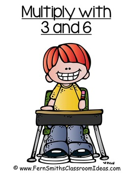 Multiplication with 3 and 6 Center and Printables with No