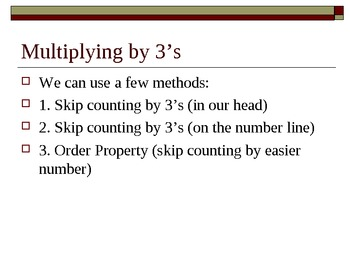 Multiply with 3s