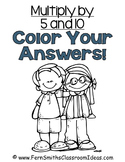 3rd Grade Go Math Chapter Four 4.2 Color By Numbers Multiply with 5 and 10