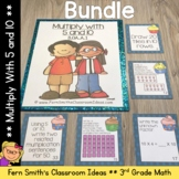 3rd Grade Go Math 4.2 Multiply 5 & 10 Task Cards Center Games Color By Code