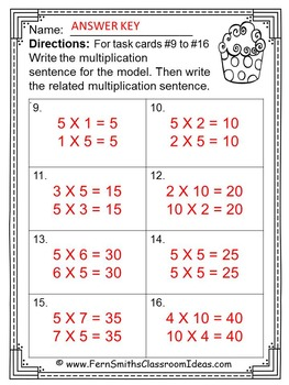 Multiplication with 5 and 10 Task Cards with No Common Core