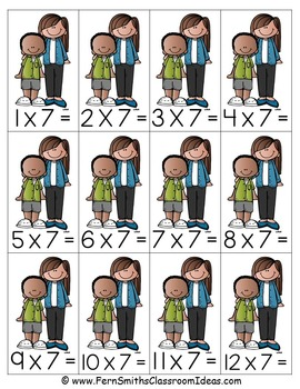 3rd Grade Go Math 4.5 Multiply With 7 Center Games and Printables