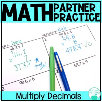 Multiply with Decimals - Differentiated Partner Practice
