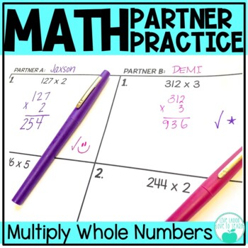 Multiply with Whole Numbers - Differentiated Partner Practice
