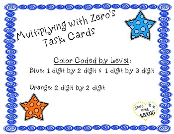 Multiply with Zero's Task Cards