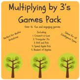 Multiply x3 Games Pack - Times Tables, Multiplication 3's