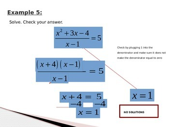 Multiply/Divide Rational Expressions and Solve Rational Equations